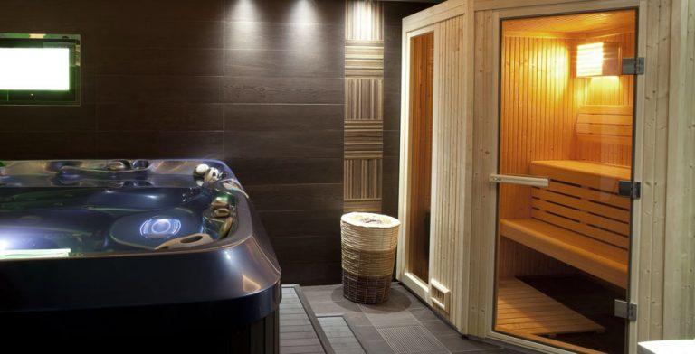 idromassaggio e sauna dentro casa