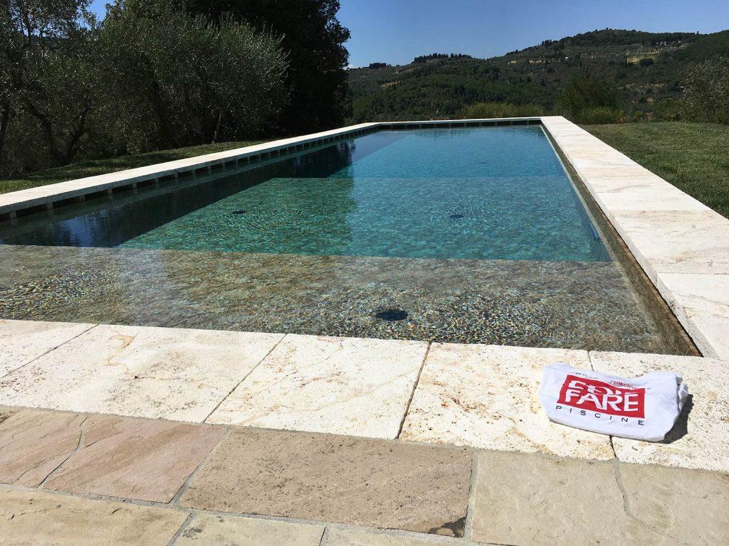 piscina interrata con telo edilfare piscine